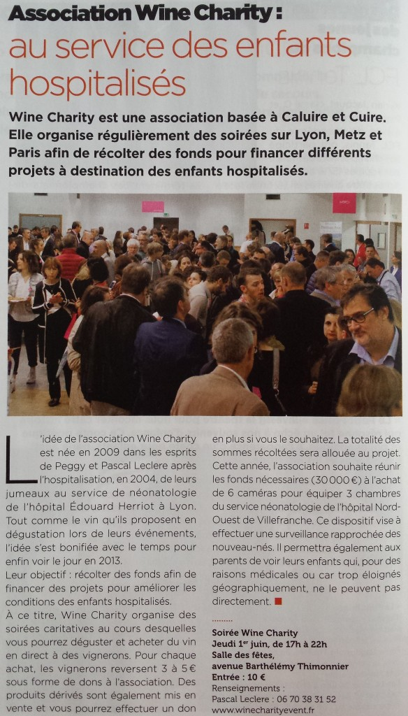 Wine Charity Event Lyon 2017 Article Rythmes