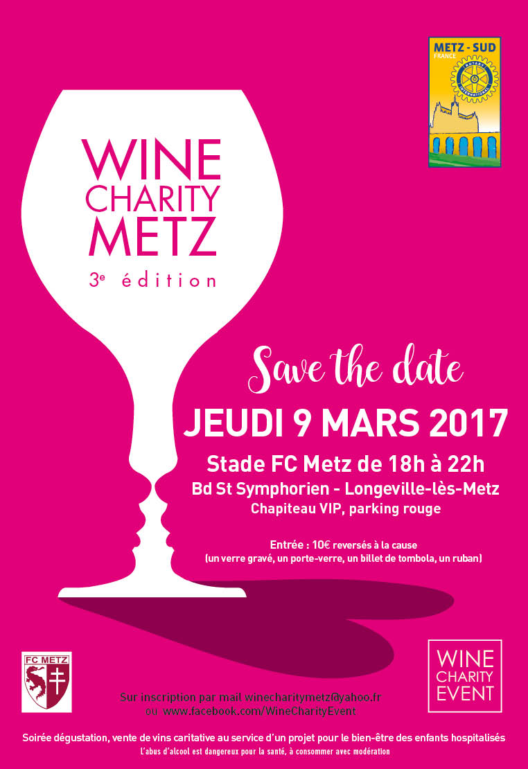 Wine charity event metz 2017
