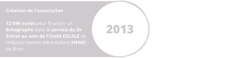 Projet 2013 création de l'association de la Wine Charity Event échographe Dr Poirot Unité ESCALE HFME Bron Hôpital Femme Mère et Enfant