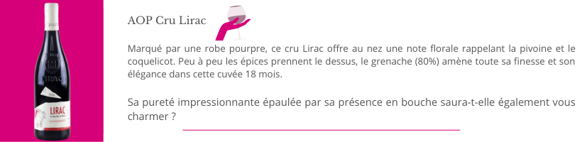 AOP Cru Lirac Domaine Thierry et Véronique Boudinaud