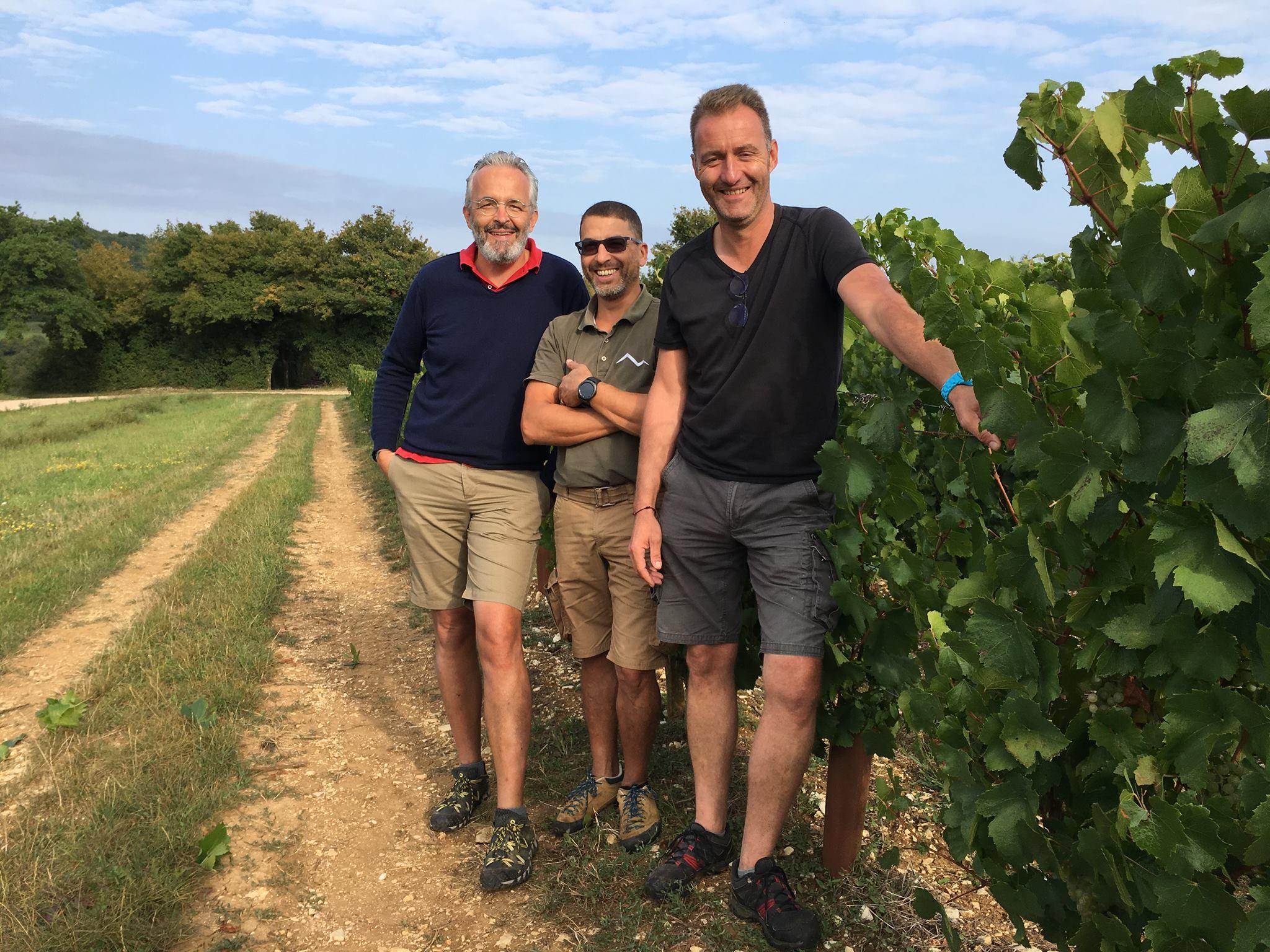 François Lequin Matthieu Ponson Domaine des Crêts vignes Ozenay